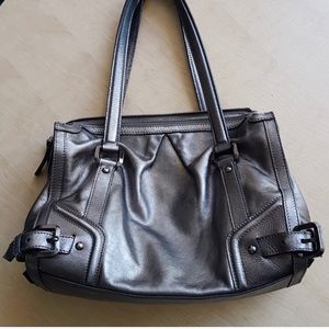Authentic Burberry Metallic Leather Shoulder Bag